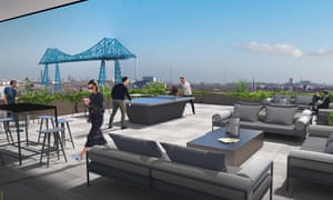 'We are here to be taken seriously' … a glossy promo vision of Boho X, with a view of the Tees transporter bridge.