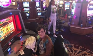 Judy Vaughan at the slots at the Mandalay Bay the day after her wedding anniversary and the shooting.