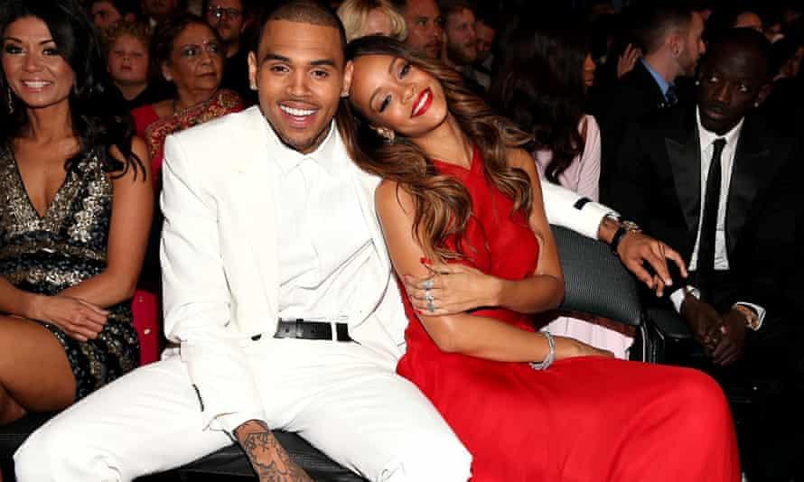 Rihanna with Chris Brown, 2013.