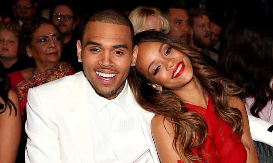 Chris Brown and Rihanna at the 2013 Grammy awards.