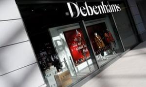 A Debenhams department store in Watford