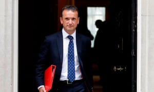 Former Wales secretary Alun Cairns leaving 10 Downing Street.