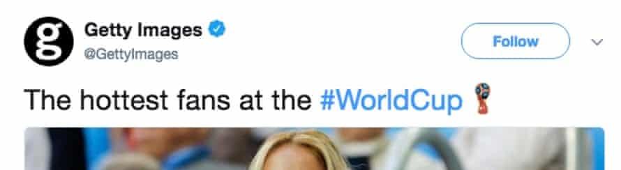 Getty's now deleted tweet.