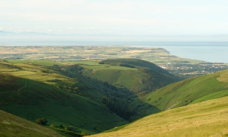 Seven kingdoms from Snaefell, Isle of Man.