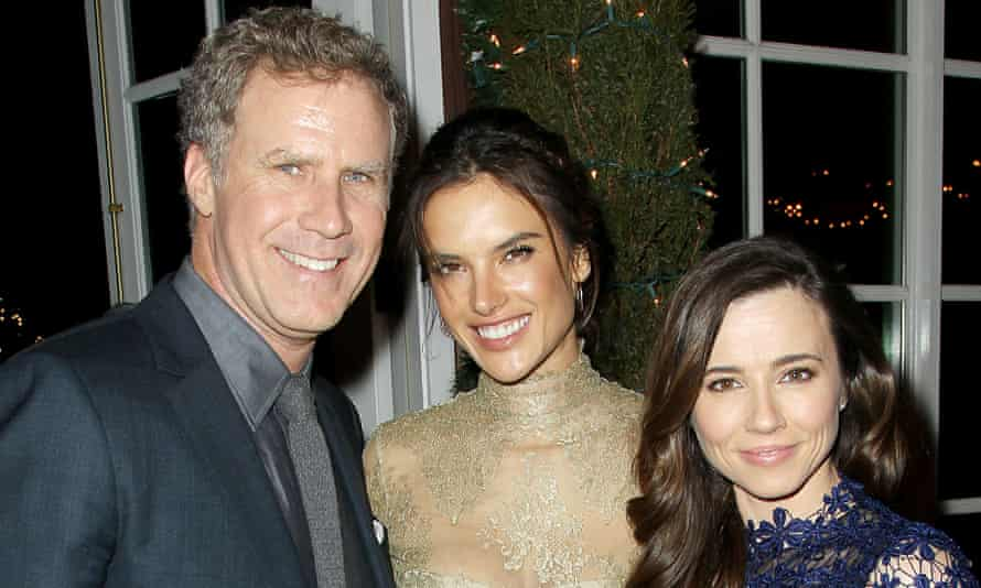 Father's day: at the premiere of Daddy's Home with co-stars Alessandra Ambrosio and Linda Cardellini.