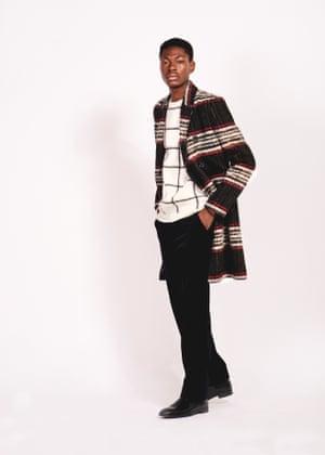 Dream coat Coat, £120, and jumper, £29, both riverisland.com Trousers, £22, hm.com Boots, £115, dunelondon.com Model: Sandile Colombo at Premier Model Management