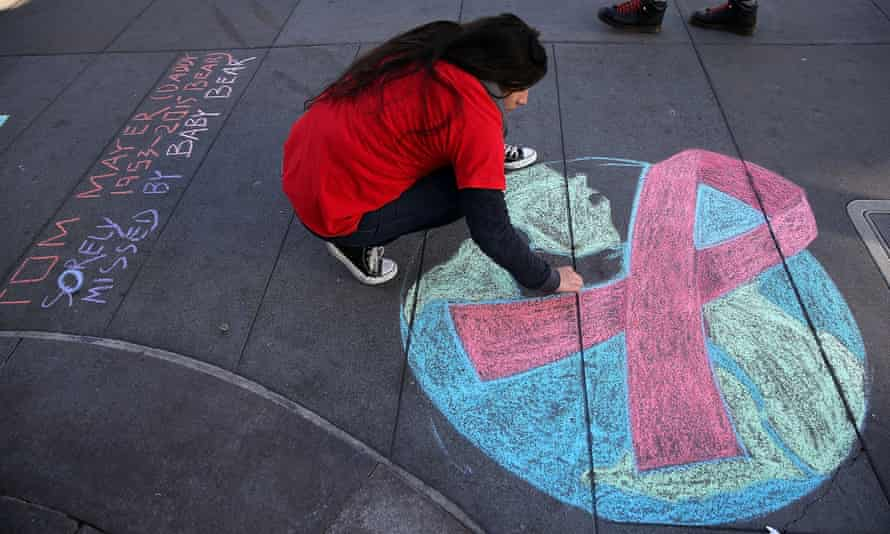 San Francisco commemorates World Aids Day. Six members of the government's HIV/Aids panel resigned in the summer protesting lack of support. The rest have now been fired.