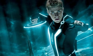 Out of this world: Garrett Hedlund gets caught up in a cyberworld in Tron: Legacy (2010).