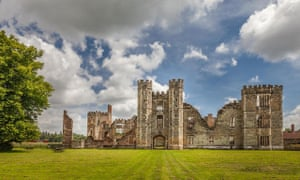 Cowdray Castle in Midhurst, West Sussex