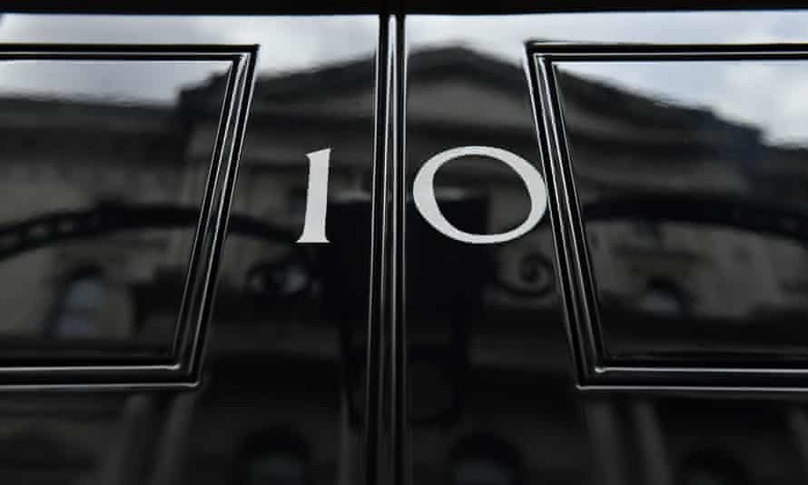 The front door of 10 Downing Street in London