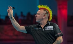 Peter Wright during the BetVictor World Matchplay semi-final.