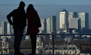 The financial district of Canary Wharf