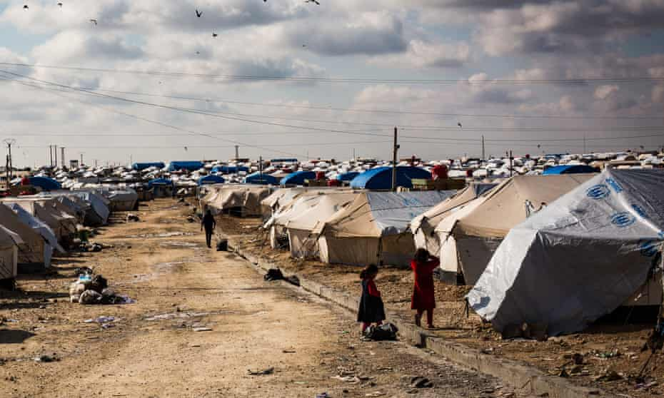 Al-Hawl camp in February 2019