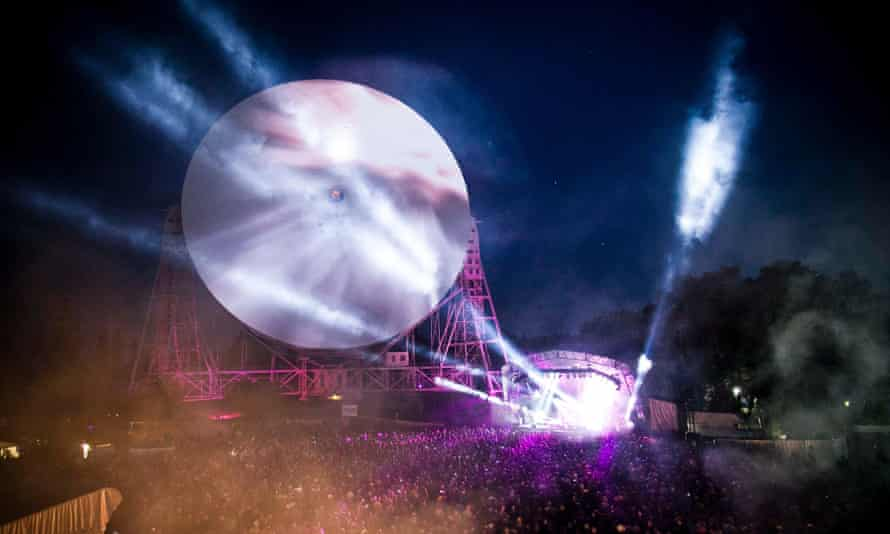 Bluedot festival at Jodrell Bank Observatory.