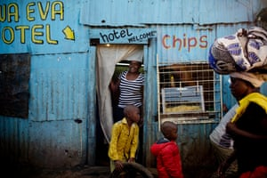 Kibera is one of the largest slums in Africa and is home to an estimated 500,000 people, most of whom live on less than one dollar a day.