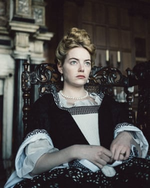 Emma Stone as Abigail in The Favourite.