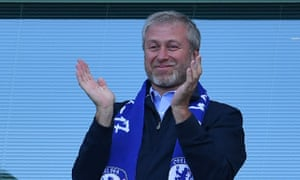 Roman Abramovich pictured in the stands at Stamford Bridge in 2017 - the last year Chelsea won the Premier League.