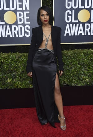 Kerry Washington at the Golden Globes in January 2020