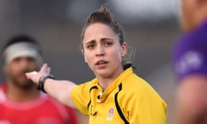 Sara Cox decided to give up playing rugby after a minor injury and last month became the first woman to referee a men's RFU fixture.