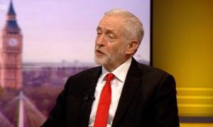 Jeremy Corbyn on Marr
