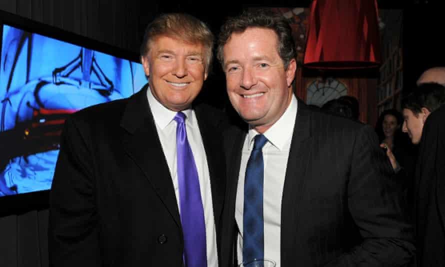 Donald Trump and Piers Morgan in November 2010 in New York.