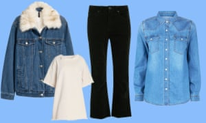 Jacket with faux fur collar, £49.99, hm.comTunic top, £105 by Marques Almeida from theoutnet.comShirt, £19.99, newlook.comJeans, £55, urbanoutfitters.com