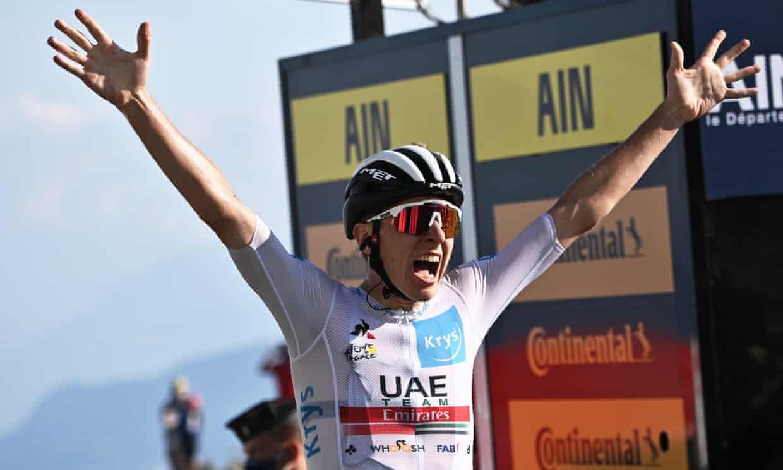 Tour de France: Tadej Pogacar wins stage 15 as Egan Bernal hits the skids   Tour de France 2020 ...