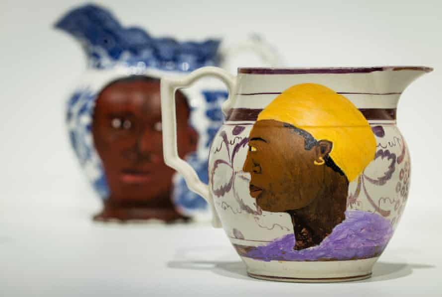 Swallow Hard: The Lancaster Dinner Service, 2007 by Lubaina Himid.