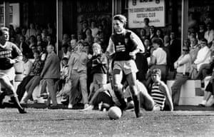 Graeme Le Saux in action for Jersey in the 1987 Muratti Vase