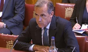 Mark Carney gives evidence to the economic affairs committee at the Lords on Tuesday afternoon.