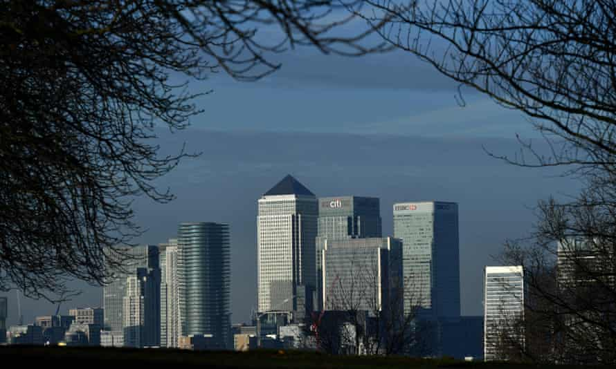Canary Wharf, in London.