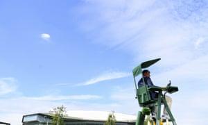 Bright blue skies at Wimbledon