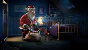 Santa and stickman