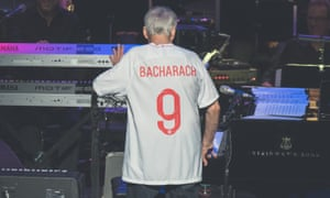 Going all the way … Burt Bacharach in his Three Lions shirt at Royal Festival Hall, London.