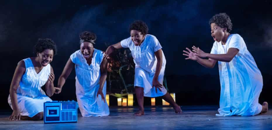 Echoes of Shaw … Our Lady of Kibeho, with Rima Nsubuga, Michaela Blackburn, Pepter Lunkuse and Gabrielle Brooks at the Royal & Derngate theatre, Northampton, in 2019.