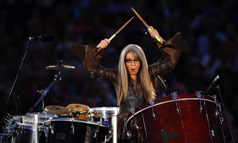 Percussionist Dame Evelyn Glennie performs during the London 2012 Olympic Games opening ceremony.
