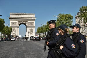 The Arc de Triomphe in Paris. The French capital has also seen its ranking fall after a spate of terror attacks.