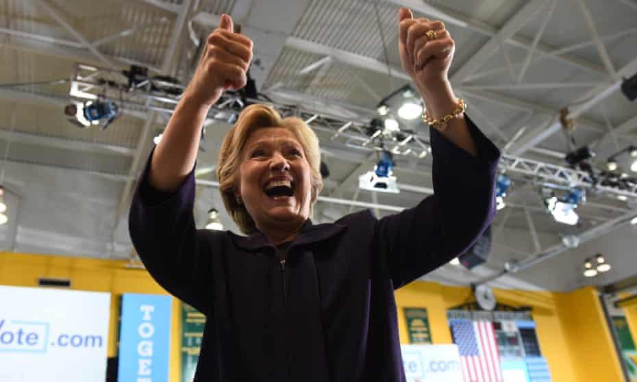 Democratic nominee Hillary Clinton