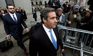 Michael Cohen exits federal court in New York City on Monday.