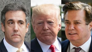 Michael Cohen, Donald Trump and Paul Manafort.