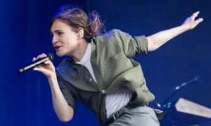 Héloïse Letissier, aka Christine and the Queens, on stage at Glastonbury.