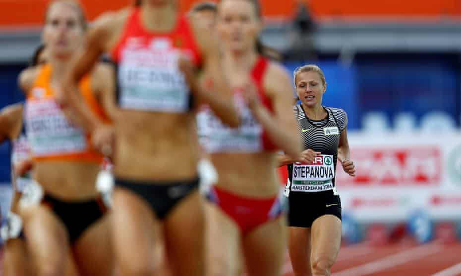 Yuliya Stepanova of Russia during her 800m heat in the European Athletics Championships.