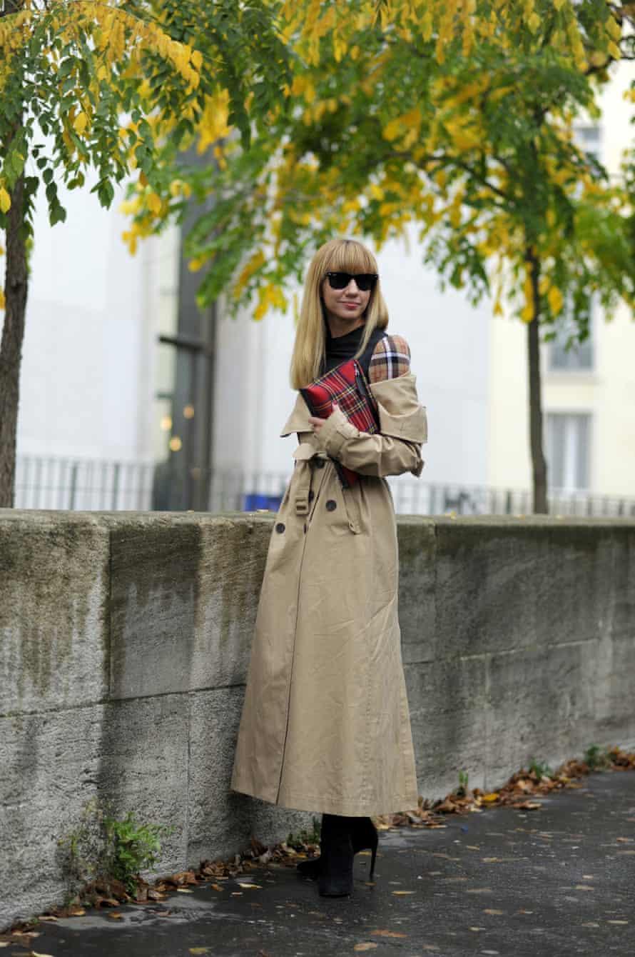A trench coat at Paris fashion week.
