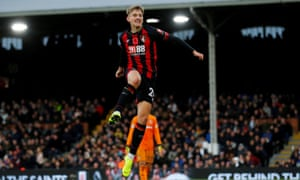 David Brooks celebrates scoring against Fulham at the weekend. The Wales international has impressed on a consistent basis since joining Bournemouth from Sheffield United in the summer