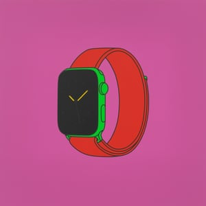 Untitled (with Apple Watch), 2020. © Michael Craig-Martin. Photo: Mike Bruce. Courtesy the artist, Gagosian, and Reflex Amsterdam.