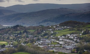 A view of the town of Dolgellau, north Wales.