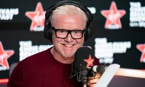 Chris Evans in his studio on the Virgin Radio breakfast show.