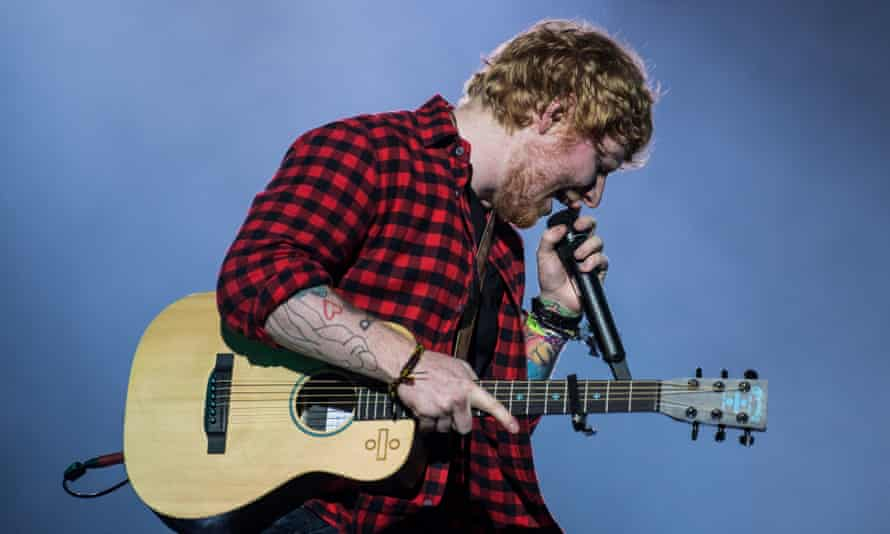 'One comment ruins your day' … Ed Sheeran at this year's Glastonbury.