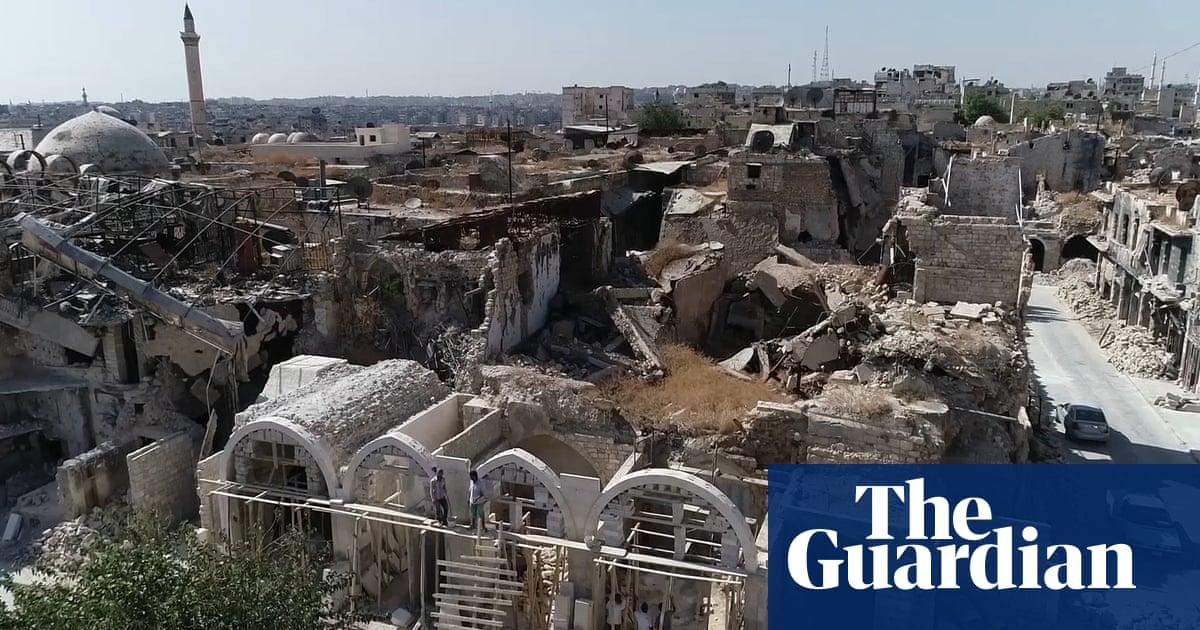 Syria: drone footage shows devastation in Aleppo, Deir ez-Zor and rural Damascus – video