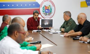 President Nicolás Maduro speaks during a meeting on the energy crisis with members of the government in Caracas on Tuesday.